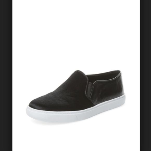 Black Calfhairleather Slide Sneaker